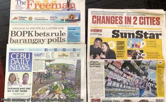 Spot the not: Bebot Abellanosa chides SunStar for polls headline